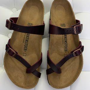 Birkenstock Mayari Zinfandel Oiled Leather 40 NEW